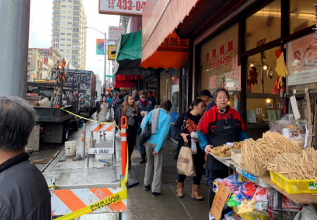 Super high volume Asian supermarket in the heart of SF Chinatown