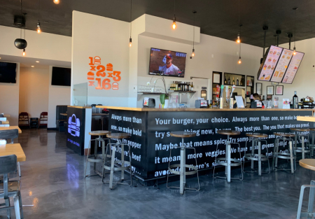 Branded Burger restaurant with beer and wine license