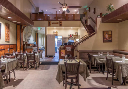 Established Thai restaurant for sale in Downtown palo Alto